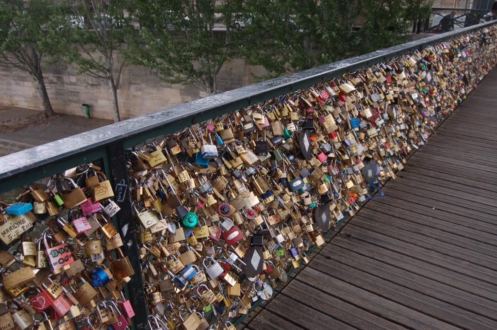 Le  pont des arts cadenas
