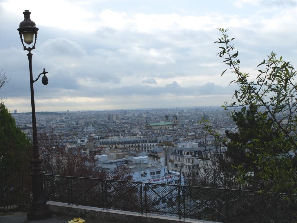 Paris vue du bas du Sacré Coeur
